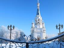 俄罗斯,圣彼德堡,2018年3月21日,圣洁受难者女王亚历山德拉的教会Babigonsky小山的 库存图片