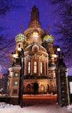 俄罗斯,圣彼德堡,2019年1月2日 基督的复活血液的或者救主的教会血液的 免版税图库摄影