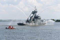 俄罗斯,圣彼德堡, 2015年7月15日 军事海军训练 免版税库存图片