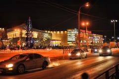俄罗斯,圣彼德堡, 27,01,2013现代购物中心 库存图片