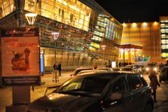 俄罗斯,圣彼德堡, 27,01,2013现代购物中心 免版税图库摄影