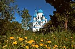 俄罗斯,圣彼德堡, Gatchina, 5月, 26,2018,在照片调解大教堂在Gatchina 免版税库存图片
