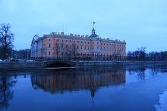 俄罗斯,圣彼德堡, Mikhailovsky城堡 库存图片