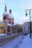 俄罗斯,圣彼德堡- 2018年2月, 04日:在Pestel街道上的Panteleimon教会 免版税库存照片