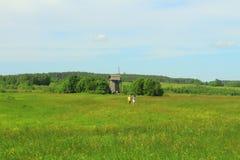俄罗斯,普斯克夫地区, Mikhailovskoye 免版税库存照片