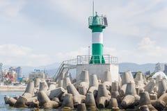 俄罗斯,索契- 2018年5月28日:索契中央海港  图库摄影