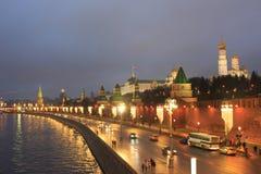 俄罗斯,莫斯科,克里姆林宫在晚上 库存图片