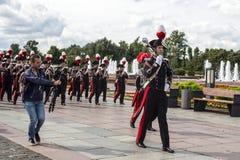 俄罗斯,莫斯科,节日Spasskaya塔 Carabinieri带, Ita 库存图片