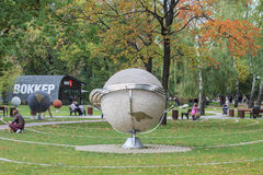 俄罗斯,莫斯科, 2015年9月14日:Sokolniki公园 图库摄影
