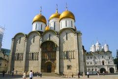 俄罗斯,莫斯科, 2011年5月23日-克里姆林宫,大教堂  免版税库存图片