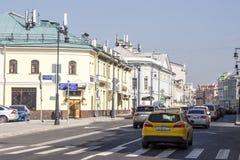 俄罗斯,莫斯科, Sretenka街 免版税库存照片