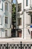 俄罗斯,莫斯科, Tverskoy大道 接近彼此大厦 库存照片