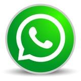 俄罗斯,莫斯科- 2019年4月29日:WhatsApp在白色背景的商标标志 WhatsApp是智能手机的一个瞬时笔谈应用程序 向量例证