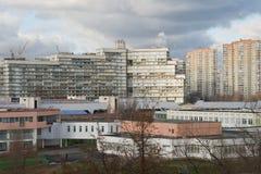 俄罗斯,莫斯科- 2010年11月15日:莫斯科睡觉地区  免版税库存照片