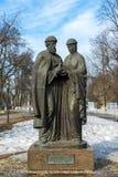俄罗斯,雅罗斯拉夫尔市3月28日 2016年 圣徒彼得和Fevronia的纪念碑从Murom的 库存图片
