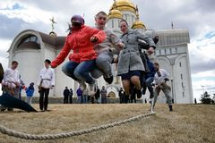 俄罗斯,马格尼托哥尔斯克- 2015年4月12日 免版税库存图片
