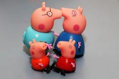 俄罗斯, Izhevsk 2017年9月30日 玩具Peppa猪 免版税库存照片