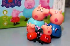 俄罗斯, Izhevsk 2017年9月30日 玩具Peppa猪 免版税库存图片