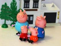 俄罗斯, Izhevsk 2018 2月4日,戏弄Peppa猪 免版税图库摄影