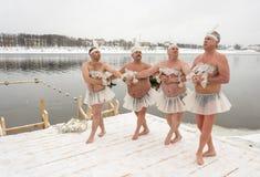 俄罗斯, Uglich, 2月07日 节日  免版税图库摄影