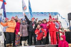 俄罗斯, Uglich, 2月07日 节日  图库摄影