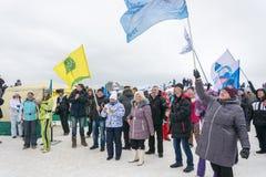 俄罗斯, Uglich, 2月07日 节日  免版税库存照片