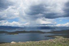 俄罗斯贝加尔湖海岛Olhon雨 库存照片