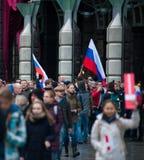 2017 - 俄罗斯10月7日,莫斯科:阿列克谢Navalny electiotorat 免版税图库摄影
