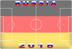 俄罗斯2018概念性背景 免版税图库摄影