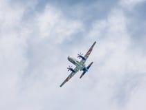 俄罗斯` s伊柳申Il114涡轮螺旋桨发动机班机 免版税库存照片