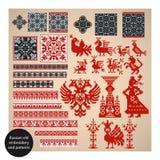 俄语刺绣老的模式 库存照片