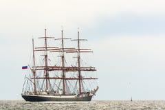 俄语四被上船桅的三桅帆谢多夫 库存照片
