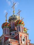俄语教会的圆屋顶 免版税库存图片