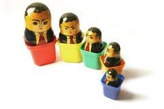 俄语生意人的玩偶 免版税图库摄影