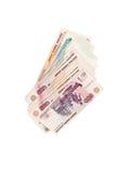 俄语的卢布 免版税库存照片