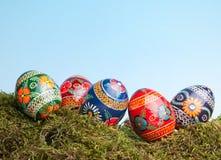 俄语的复活节彩蛋 免版税图库摄影