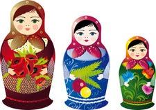 俄语的玩偶 库存照片