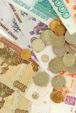 俄语的货币 库存照片