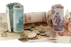 俄语的货币 库存图片
