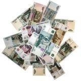 俄语的钞票 免版税库存照片