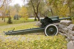 俄语152 mm短程高射炮模型1939年 免版税库存图片