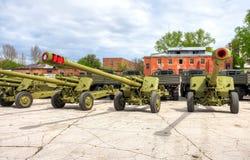 俄语152 mm短程高射炮2A65 MSTA-B 库存照片