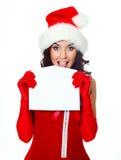 俏丽信包的女孩 免版税库存图片