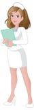 俏丽动画片的护士 免版税库存图片