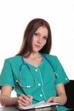 俏丽医生的女性 免版税库存图片