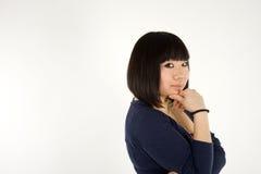 俏丽女孩韩文的纵向 免版税图库摄影