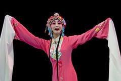 俏丽女演员中国的歌剧 免版税库存图片