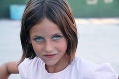 俏丽态度的女孩 库存照片