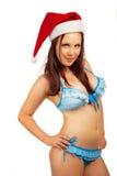 俏丽的圣诞老人辅助工 库存图片