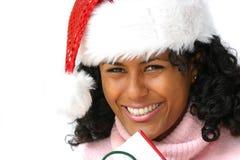 俏丽的圣诞老人 免版税库存照片